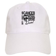 Wrong Diva Lung Cancer Baseball Cap