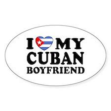 I Love My Cuban Boyfriend Oval Decal