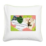 Nature Quote Collage Square Canvas Pillow