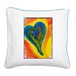 Bright Valentine Square Canvas Pillow