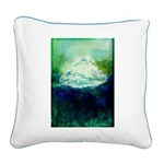Snowy Mountain Square Canvas Pillow