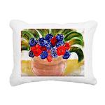 Flowers in Pot Rectangular Canvas Pillow