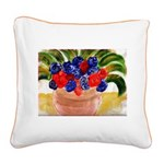 Flowers in Pot Square Canvas Pillow