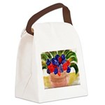 Flowers in Pot Canvas Lunch Bag