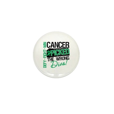 Wrong Diva Liver Cancer Mini Button (10 pack)