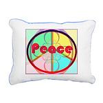 Abstract Peace Sign Rectangular Canvas Pillow