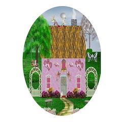 Honeymoon Cottage Oval Ornament
