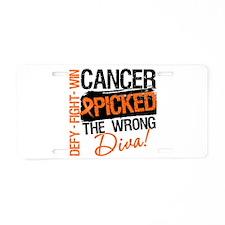 Wrong Diva Leukemia Cancer Aluminum License Plate