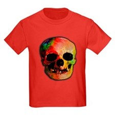 Tie dye skull T