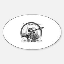 Real Skeet Sticker (Oval)
