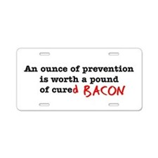 Pound of Bacon Aluminum License Plate
