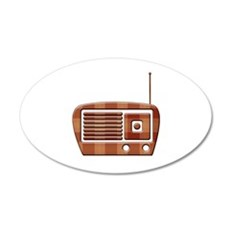 Vintage Radio 35x21 Oval Wall Decal