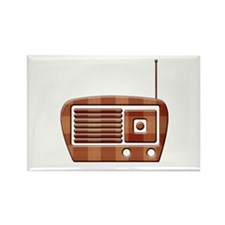 Vintage Radio Rectangle Magnet