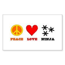 Peace Love Ninja Decal