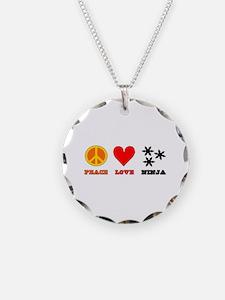 Peace Love Ninja Necklace