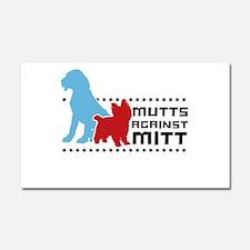 Mutts Against Mitt Car Magnet 20 x 12
