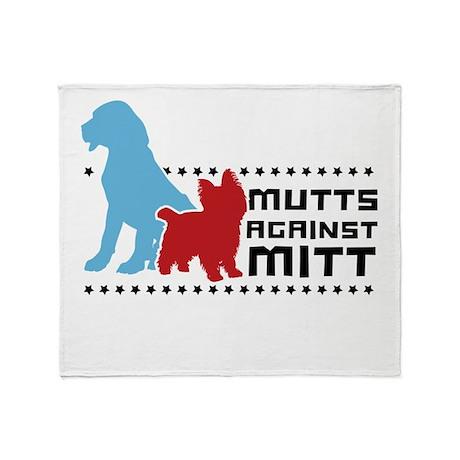 Mutts Against Mitt Throw Blanket