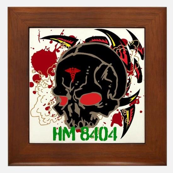 NVG Green and Red Devil Doc Framed Tile