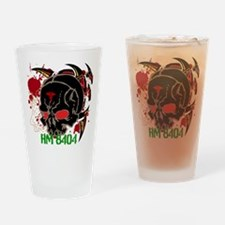 NVG Green and Red Devil Doc Drinking Glass