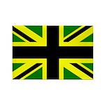 Black Union Jack Rectangle Magnet