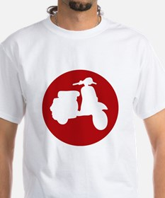 Retro Red Scooter Dot T-Shirt