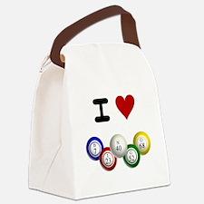 I LUV BINGO Canvas Lunch Bag