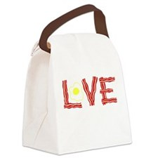 Love Bacon and Eggs Canvas Lunch Bag