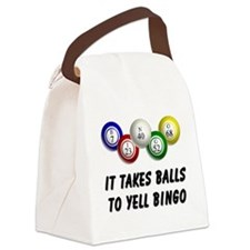 Balls to Bingo Canvas Lunch Bag