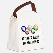Balls to Bingo Canvas Lunch Bag