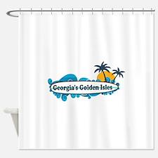 Golden Isles GA - Surf Design. Shower Curtain