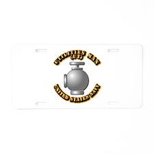 Navy - Rate - UT Aluminum License Plate