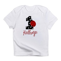 1 Ladybug KATHRYN - Custom Birthday Infant T-Shirt