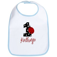 1 Ladybug KATHRYN - Custom Birthday Bib