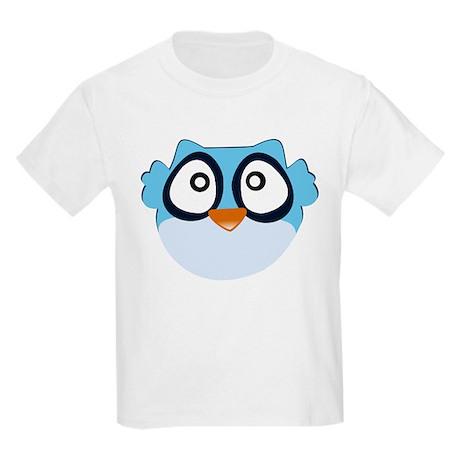 Cute Blue Owl Kids Light T-Shirt