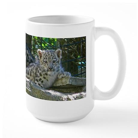 Baby Snow Leopard Large Mug