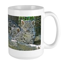 2 Baby Snow Leopards Mug