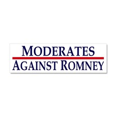 Moderates Against Romney Car Magnet 10 x 3