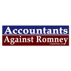 Accountants Against Romney Bumper Bumper Sticker