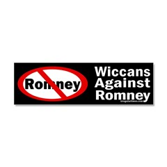 Wiccans Against Romney Car Magnet 10 x 3