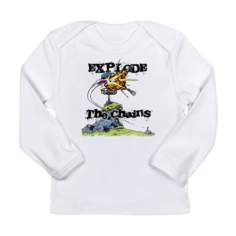 Disc Golf EXPLODE THE CHAINS Long Sleeve Infant T-