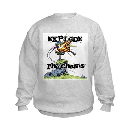 Disc Golf EXPLODE THE CHAINS Kids Sweatshirt