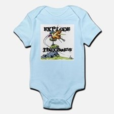 Disc Golf EXPLODE THE CHAINS Infant Bodysuit