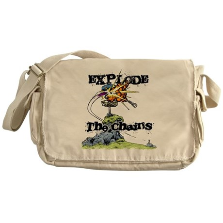Disc Golf EXPLODE THE CHAINS Messenger Bag