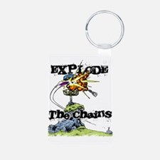 Disc Golf EXPLODE THE CHAINS Keychains