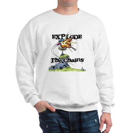 Disc Golf EXPLODE THE CHAINS Sweatshirt