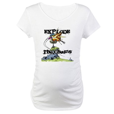 Disc Golf EXPLODE THE CHAINS Maternity T-Shirt