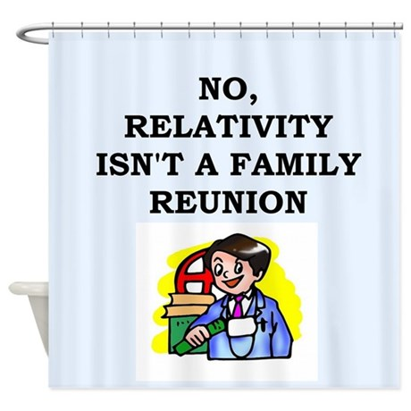 relativity Shower Curtain