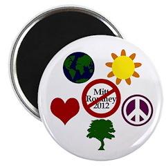 Six Symbols Against Mitt Romney Magnet