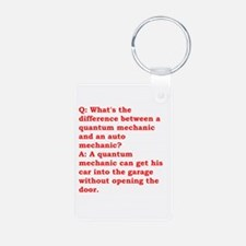physics joke Keychains