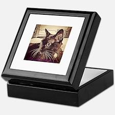Burmese Cat Drawing Keepsake Box
